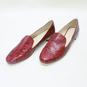 Zara Basic Collection Faux Red Leather Loafers